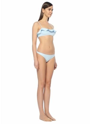Bec & Bridge Fırfırlı Bikini Üstü Mavi